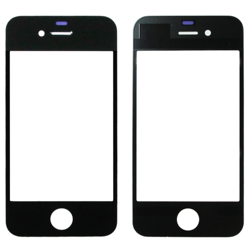 Front Screen Outer Glass Lens for iPhone 4 (Black)
