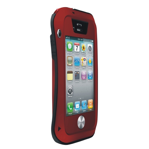 Buy LOVE MEI Metal Ultra-thin Small Waist Waterproof Dustproof Shockproof Powerful Protective Case for iPhone 4 & 4S, Red for $15.70 in SUNSKY store