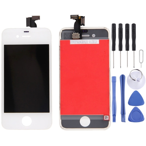 Digitizer Assembly (LCD + Frame + Touch Pad) for iPhone 4(White)