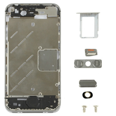 Buy iPartsBuy 7 in 1 for iPhone 4S (Original Front Bezel + Original Middle Board + Original Mute Switch Button Key + Original Volume Key + Original SIM Card Tray Holder + Original Two Screws), Silver for $5.65 in SUNSKY store