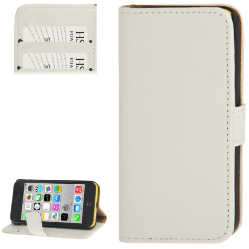Buy Crazy Horse Texture Leather Case with Credit Card Slot & Holder for iPhone 5C, White for $2.29 in SUNSKY store