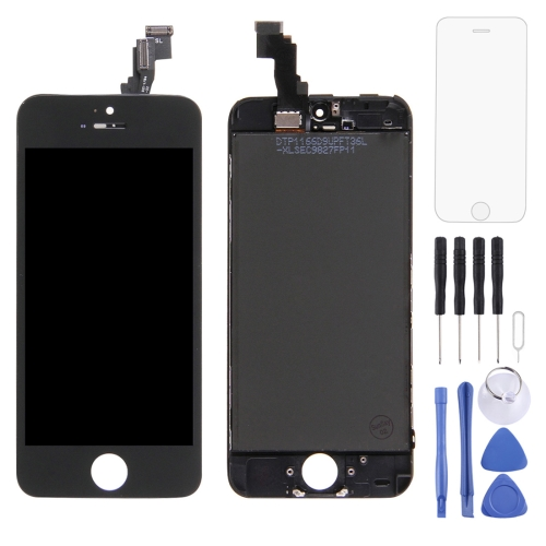 Digitizer Assembly (Original LCD + Frame + Touch Panel) for iPhone 5C(Black)