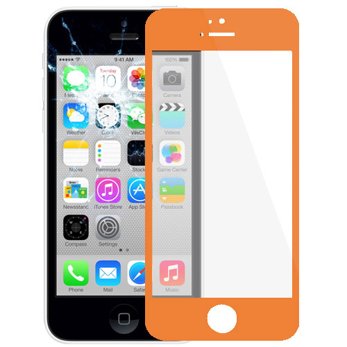 Front Screen Outer Glass Lens for iPhone 5C(Orange)