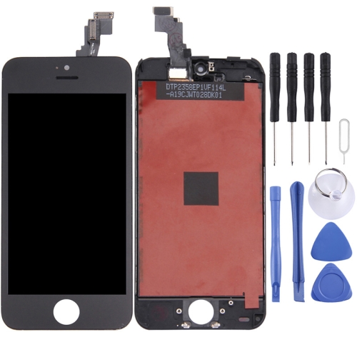 LCD Screen and Digitizer Full Assembly with Frame for iPhone 5C(Black)