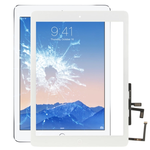 Controller Button + Home Key Button PCB Membrane Flex Cable + Touch Panel Installation Adhesive, Touch Panel for iPad Air / iPad 5(White)