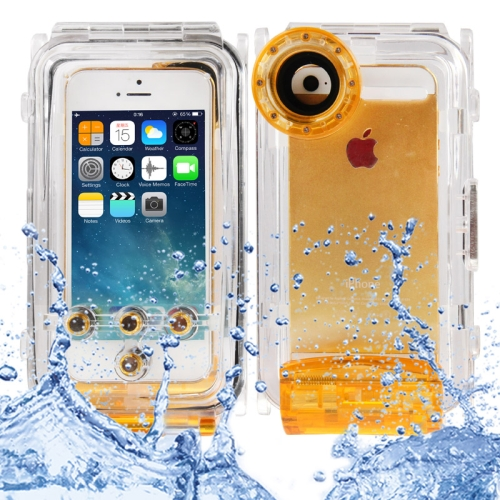 Buy Waterproof Photo Housing Underwater Case for iPhone 5 & 5s & SE, Water-proof: IPX8, Orange for $19.48 in SUNSKY store