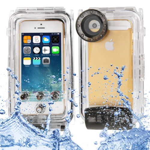 Buy Waterproof Photo Housing Underwater Case for iPhone 5 & 5s & SE, Water-proof: IPX8, Black for $19.54 in SUNSKY store