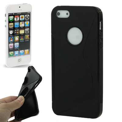 S Line TPU Shell for iPhone 5 (Black)