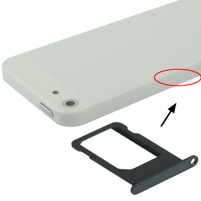 Original Sim Card Tray Holder for iPhone 5(Black)