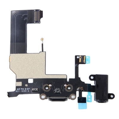 Dock Connector with Headphone Jack Flex Cable Repair for iPhone 5 (Black)