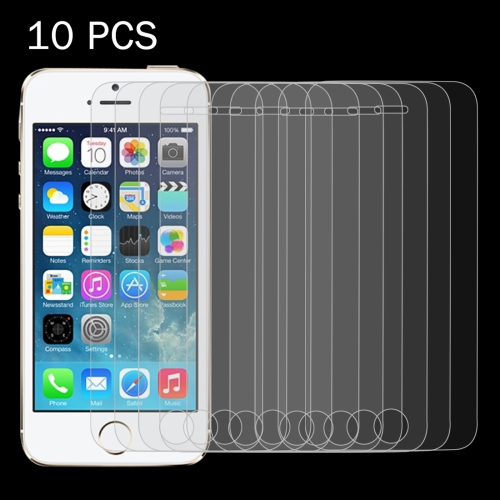 Buy 10 PCS for iPhone SE & 5 & 5S & 5C 0.26mm 9H Surface Hardness 2.5D Explosion-proof Tempered Glass Screen Film for $3.44 in SUNSKY store
