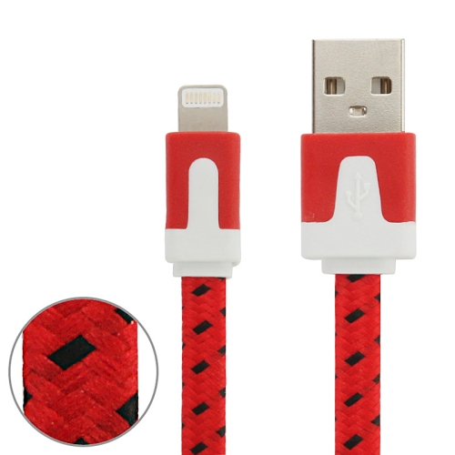 Buy 1m Woven Style 8 Pin to USB Data / Charging Cable for $1.01 in SUNSKY store