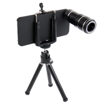 Buy 12X Optical Zoom Mobile Phone Telescope Lens with Tripod + Plastic Case for iPhone 5 for $14.26 in SUNSKY store