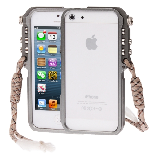 Buy 4th Design Trigger Aluminum Metallic Bumper Cases Cover for iPhone 5 & 5S, Grey for $6.12 in SUNSKY store