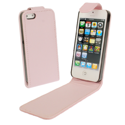 Buy Soft Texture Up and Down Open Leather Case for iPhone 5 & 5s & SE & SE, Pink for $1.49 in SUNSKY store