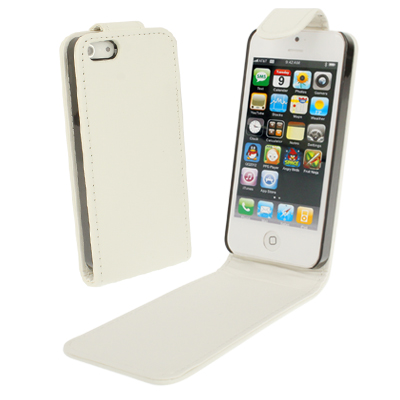 Buy Soft Texture Up and Down Open Leather Case for iPhone 5 & 5s & SE & SE, White for $1.49 in SUNSKY store