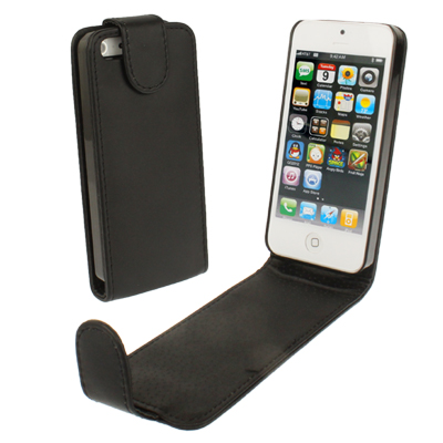 Buy Soft Texture Up and Down Open Leather Case for iPhone 5 & 5s & SE & SE, Black for $1.49 in SUNSKY store