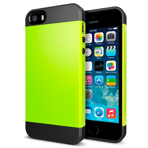 Buy Tough Armor Plastic + TPU Combination Case for iPhone 5 & 5s & SE, Green for $1.38 in SUNSKY store