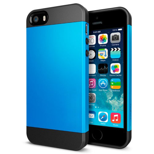 Buy Tough Armor Plastic + TPU Combination Case for iPhone 5 & 5s & SE, Blue for $1.37 in SUNSKY store