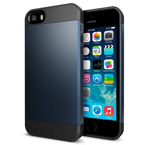 Buy Tough Armor Plastic + TPU Combination Case for iPhone 5 & 5s & SE (Dark Blue) for $1.38 in SUNSKY store