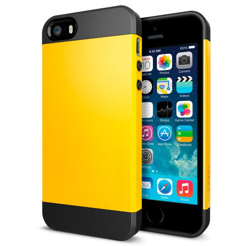 Buy Tough Armor Plastic + TPU Combination Case for iPhone 5 & 5s & SE, Yellow for $1.38 in SUNSKY store