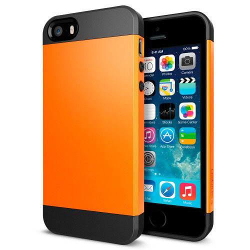 Buy Tough Armor Plastic + TPU Combination Case for iPhone 5 & 5s & SE, Orange for $1.37 in SUNSKY store