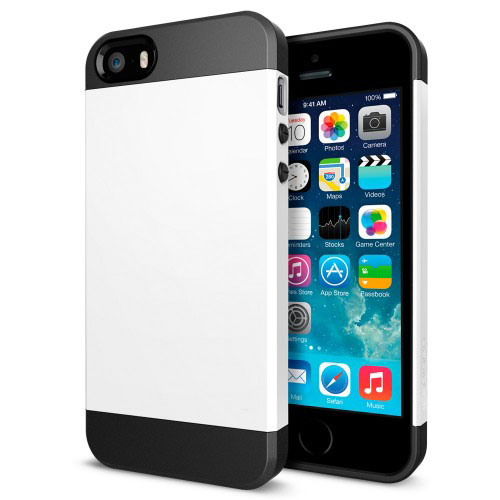 Tough Armor Plastic + TPU Combination Case for iPhone 5 & 5s & SE, White