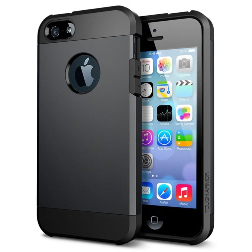 Buy Tough Armor Plastic + TPU Combination Case for iPhone 5 & 5S, Black for $1.16 in SUNSKY store