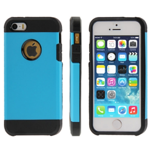 Buy Tough Armor Plastic + TPU Combination Case for iPhone 5 & 5S, Blue for $1.11 in SUNSKY store