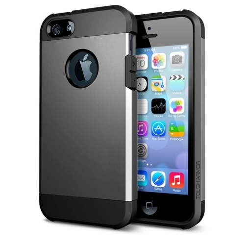 Buy Tough Armor Plastic + TPU Combination Case for iPhone 5 & 5S, Grey for $1.15 in SUNSKY store