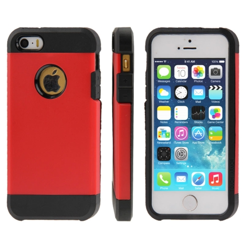 Buy Tough Armor Plastic + TPU Combination Case for iPhone 5 & 5S, Red for $1.10 in SUNSKY store