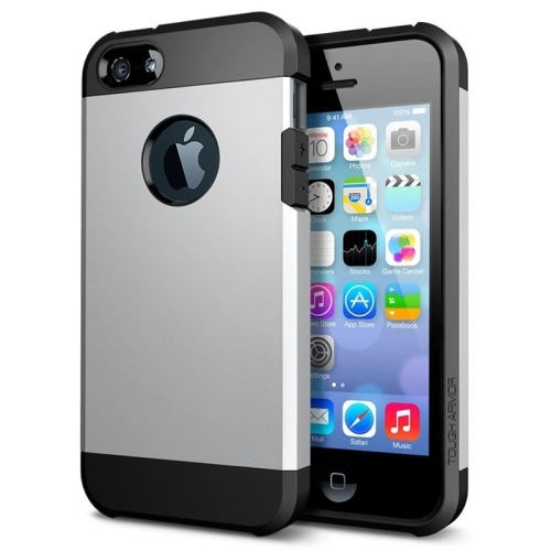 Buy Tough Armor Plastic + TPU Combination Case for iPhone 5 & 5S, Silver for $1.15 in SUNSKY store