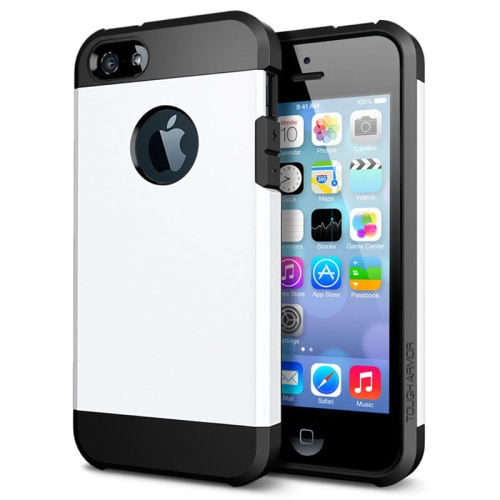 Buy Tough Armor Plastic + TPU Combination Case for iPhone 5 & 5S, White for $1.15 in SUNSKY store