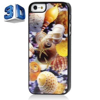 010c911a573 SUNSKY - Estuche de plástico de dibujo concha de estilo de efecto 3D para  iPhone 5 y 5S