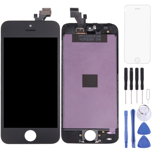 LCD Screen and Digitizer Full Assembly with Frame for iPhone 5(Black)