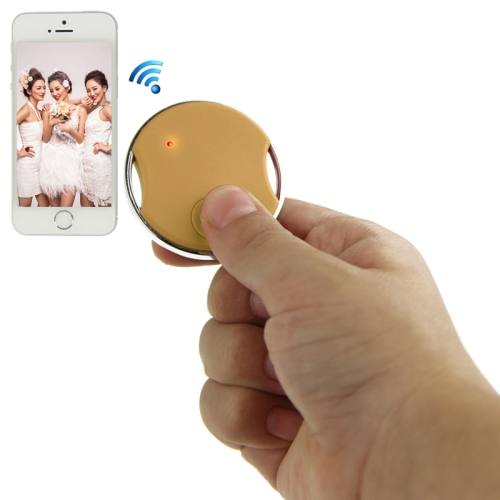 Buy Mini Circular Shutter Remote Control Via Bluetooth for iPhone 4S / 5 / 5S, iPad 4 / iPad air / iPad mini / iPad Touch 5th, Samsung Galaxy S III / i9300 / S IV / i9500 / S5 / G900 / Note II / N7100/ Note III / N9000, Gold for $8.04 in SUNSKY store