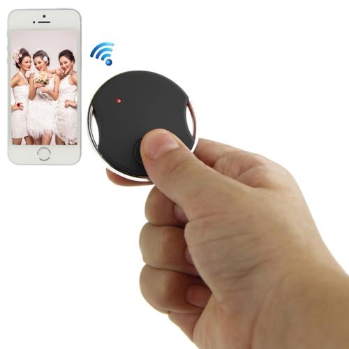 Buy Mini Circular Shutter Remote Control Via Bluetooth for iPhone 4S / 5 / 5S, iPad 4 / iPad air / iPad mini / iPad Touch 5th, Samsung Galaxy S III / i9300 / S IV / i9500 / S5 / G900 / Note II / N7100/ Note III / N9000, Black for $8.04 in SUNSKY store