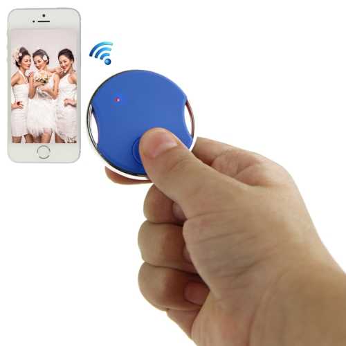 Buy Mini Circular Shutter Remote Control Via Bluetooth for iPhone 4S / 5 / 5S, iPad 4 / iPad air / iPad mini / iPad Touch 5th, Samsung Galaxy S III / i9300 / S IV / i9500 / S5 / G900 / Note II / N7100/ Note III / N9000, Blue for $8.04 in SUNSKY store