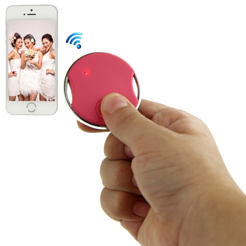 Buy Mini Circular Shutter Remote Control Via Bluetooth for iPhone 4S / 5 / 5S, iPad 4 / iPad air / iPad mini / iPad Touch 5th, Samsung Galaxy S III / i9300 / S IV / i9500 / S5 / G900 / Note II / N7100/ Note III / N9000, Magenta for $8.04 in SUNSKY store
