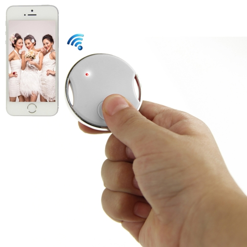 Buy Mini Circular Shutter Remote Control Via Bluetooth for iPhone 4S / 5 / 5S, iPad 4 / iPad air / iPad mini / iPad Touch 5th, Samsung Galaxy S III / i9300 / S IV / i9500 / S5 / G900 / Note II / N7100/ Note III / N9000, White for $8.04 in SUNSKY store