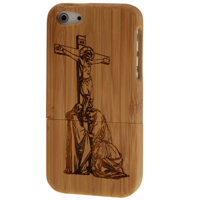Buy Jesus Pattern Detachable Wood Material Case for iPhone 5 for $8.06 in SUNSKY store
