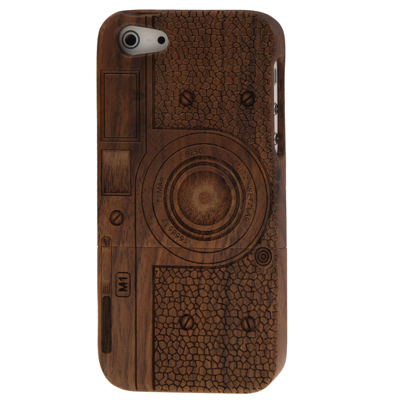 Buy Camera Pattern Detachable Wood Material Case for iPhone 5 for $8.05 in SUNSKY store