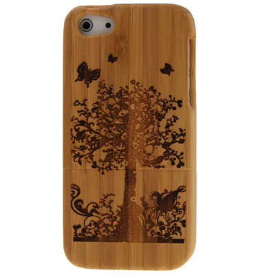 Buy Tree Pattern Detachable Wood Material Case for iPhone 5 for $8.06 in SUNSKY store