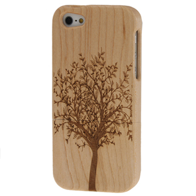 Buy Tree Pattern Wood & Bamboo Material Detachable Wood Material Case for iPhone 5 for $7.60 in SUNSKY store