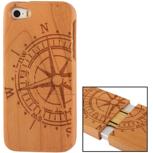 Buy Navigation Plate Woodcarving Pattern Detachable Pine Wood Material Case for iPhone 5 & 5S for $7.94 in SUNSKY store