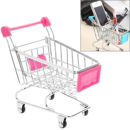 Buy Universal Mini Grocery Shopping Cart Style Desktop Storage Box / Holder for $1.50 in SUNSKY store