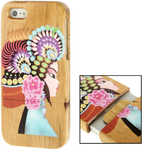 Buy Coloured Drawing Chinese Opera Female Role Pattern Detachable Pinevood Material Case for iPhone 5 & 5s & SE for $8.05 in SUNSKY store