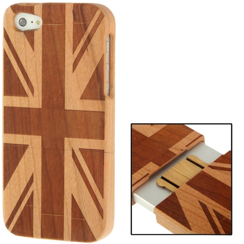 Buy Woodcarving UK Flag Pattern Detachable Cherry Wood Material Case for iPhone 5 for $8.05 in SUNSKY store