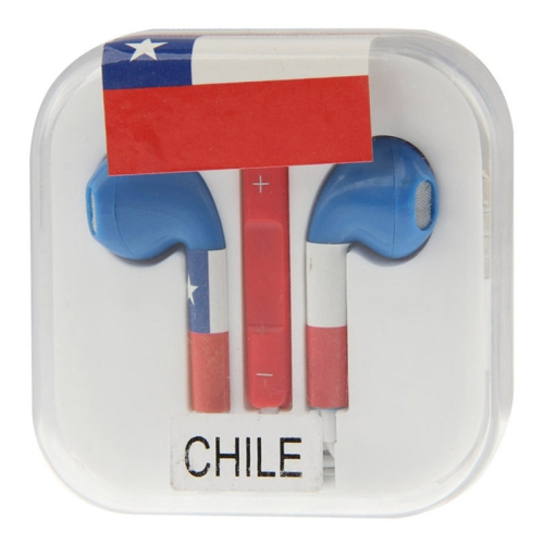9956103ea45 Chile Flag Pattern EarPods with Remote and Mic for iPhone 5 & 5S & 5C,  iPhone 4 & 4S, iPad / iPod touch, iPod Nano / Classic