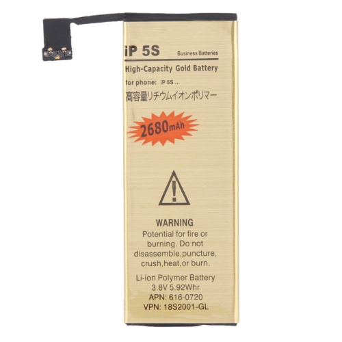 2680mAh Gold Business Replacement Battery for iPhone 5S